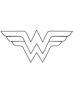 Wonder Woman Logo Template Cut Out  Coloring Page