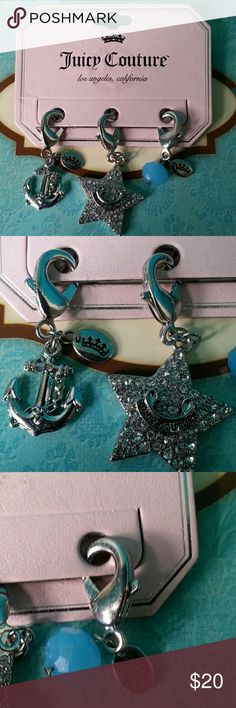Juicy Couture Charms Three cute silvertone charms for the Juicy Couture lover. New, never used. Juicy Couture Jewelry
