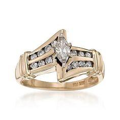 Ross Simons C 1980 Vintage 50 Ct T W Diamond Ring In