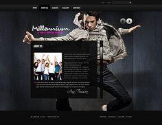 Millennium Dance Website Templates by Nessy