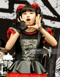Yuimetal of Babymetal performs on day 3 of The Leeds Festival at Bramham Park on August 30, 2015 in Leeds, England.