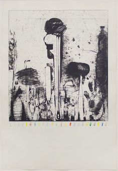 Jim Dine Piranesi's Watercolor Marks 1974-76 etching with hand painting in watercolor 39 1/2 x 27 1/2inches Edition of 30