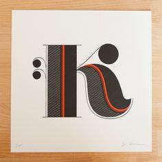 Type Design & Experiments / jessica hische, daily drop cap, letters, — Designspiration