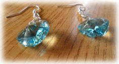 Silvia Jewellery of Style: Orecchini cuore cristallo turchese