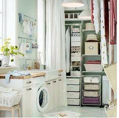 Laundry room. High storage.
