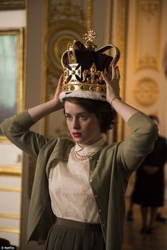 The Crown, said to be the most expensive television series ever, stars Claire Foy as the Queen and Matt Smith as Prince Philip. The lavish Netflix biopic - the first two episodes of which have bee seen by FEMAIL - documents the early days of the couple's relationship as a tender affair