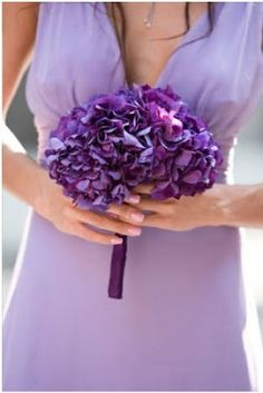 purple hydrangea wedding bouquet: taramaso photo