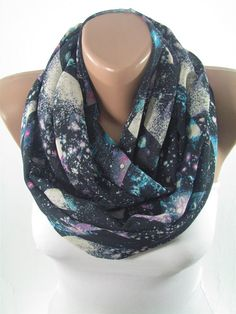 Valentines Gift For Her Infinity Scarf Galaxy Scarf by ScarfClub