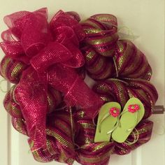 Flip flop wreath.  $45.