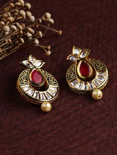 Gold Jewelry for any purpose Gold Jhumka Earrings, Jewelry Design Earrings, Gold Earrings Designs, Drop Earrings, Jewellery Designs, India Jewelry, Gold Jewelry, Jewelery, Antique Jewelry