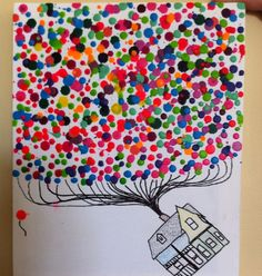 Melted crayon art for the movie Up