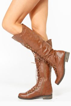 Knee High Lace Up Boots.  I think I had these forty-one years ago.