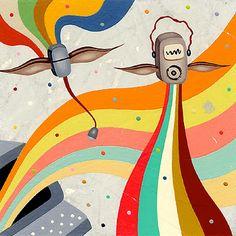 Colin Johnson American Illustration, Collage Illustration, Crazy Colour, Color, Communication Art, Publication Design, Freelance Illustrator, 2 Colours, Illustrators