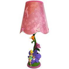 Disney Tinker Bell Scallop Table Lamp, Multi-Color: Kids' & Teen Rooms : Walmart.com