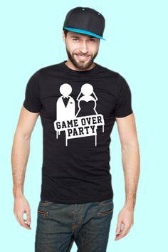 Game Over JGA Party T-Shirt. Feiert Stylisch feiert Hard !   #jga #junggesellenabschied