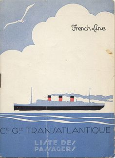 Sail away - French Line #vintage #travel #poster