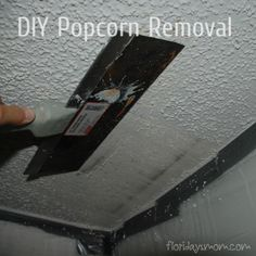 how to clean a greasy popcorn ceiling