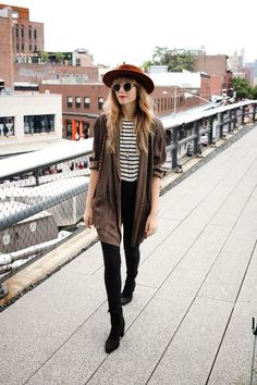 black and stripes outfit