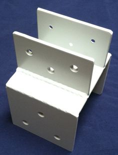 Post / Girder Brackets (PTG-10) - Here's some brackets that are for mounting on the top of a post, that will be holding a girder or beam. This is helpful when you are trying to marry a girder that is a different thickness than the post it's going on. We will custom make this to the size/specs that you need. Just get a hold of us to talk about your project.