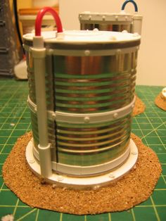 Soup can storage tank.