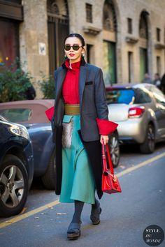 Sherry Shen Street Style Street Fashion Streetsnaps by STYLEDUMONDE Street Style Fashion Photography