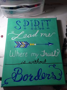 Oceans, Spirit lead me where my trust is without borders. Using #Sharpie paint pens.  8x10 canvas.