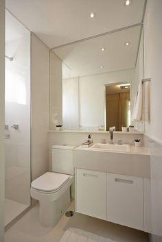 Banheiro social pequeno: