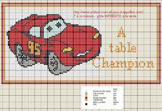 véhicule - voiture - point de croix - cross stitch - Blog : http://broderiemimie44.canalblog.com/