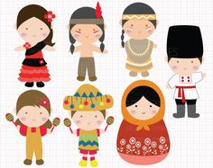 World Culture Day v2 Digital CLIP ARTS personal and by Digicute