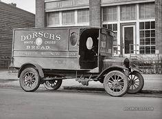 Dorsch's Ford truck. Dorsch White Cross Bread. 1923