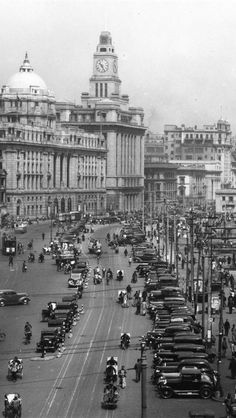 One of the best shots of the Bund of Shanghai in late 1940s. It was an golden era for colonial economies.
