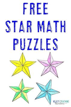 Focus on basic math fact skills in your 1st, 2nd, 3rd, 4th, or 5th grade room with these FREE star downloads. Practice addition, subtraction, multiplication, or division. Great for #math centers, review, early finishers, morning work, test prep, and more. Click to get your freebies now. #MorningWork #SeatWork #Elementary #Addition #Subtraction #Multiplication #Division #HoJoTeaches #Math