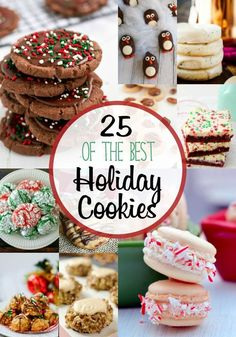 of The Best Holiday Cookies Get a jump start on those holiday baking plans now with this collection of 25 of the Best Holiday Cookies.Get a jump start on those holiday baking plans now with this collection of 25 of the Best Holiday Cookies. Best Holiday Cookies, Holiday Cookie Recipes, Xmas Cookies, Holiday Baking, Making Cookies, Christmas Recipes, Christmas Foods, Christmas Cookie Exchange, Christmas Sweets