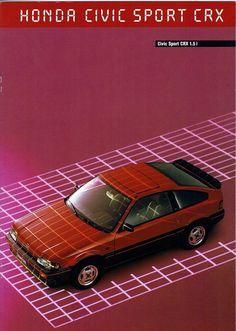 Honda CRX Mk1 France Brochure 1985