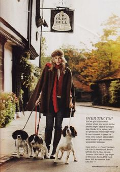 Ok...I would not wear the cape, but I would accessorize with English Springer Spaniels any day of the week!