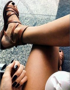 brown leather cross strap flat Sandals - brown leather flat sandals, ankle strap flat sandals