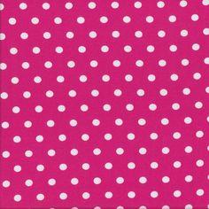 Dots - White on Pink - Stenzo Jersey Knit