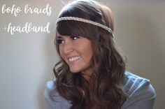 Rachel's Style: Boho Braid with headband. Visit her post to see the other new hairstyles she discoverd: luxurious curls, loose side braid, loose and low pony. #HeartMyHair #ad