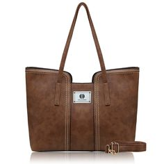 3de6cef37 Women's Bags, Tote Bags, Women PU Leather Top Zipper Tote Bag With Shoulder  Straps