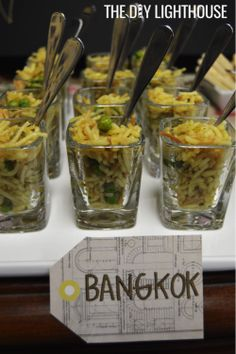travel themed bridal shower: bangkok fried rice