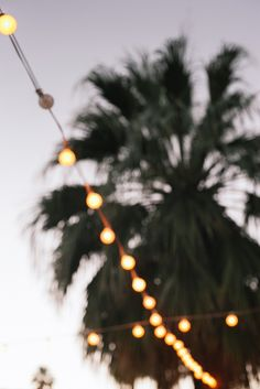 Wedding Reception Under String Lights