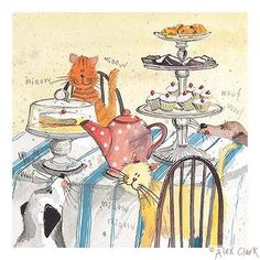 'High Tea' by contemporary English artist Alex Clark.