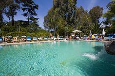 """La piscina interna """"Tifeo"""" è il perfetto complemento per godersi in pieno gli effetti benefici dell'acqua termale ischitana: idromassaggio, cascata cervicale e luci di cromoterapia assicurano momenti di perfetto relax."""