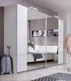 SlumberHaus-German-Modern-Davos-White-Chrome-Mirror-5-Door-225cm-Wardrobe