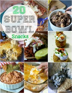 Super Bowl Snacks Ideas - FamilyFreshMeals - Great Snacks, Recipes and More! Drinks, Dips, Sweet Treats. So many Great ideas!