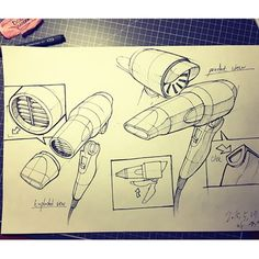 Hair Dryer - Easy Guidelines To Help You Style Hair Beautifully Sketch Design, Layout Design, Structural Drawing, Presentation Techniques, Industrial Design Sketch, Stuff And Thangs, Visual Communication, Drawing Techniques, Drawing Reference