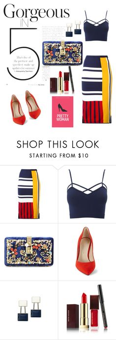 """""""I like this combination ! Gorgeous """" by hanija21 ❤ liked on Polyvore featuring Tommy Hilfiger, Charlotte Russe, Dolce&Gabbana, Karen Millen, Kevyn Aucoin and plus size clothing"""