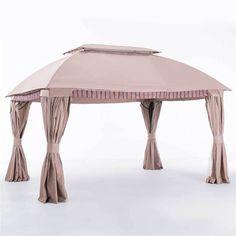 Sunjoy Ridder Beige Fabric and Steel 10-foot x 13-foot Domed Gazebo