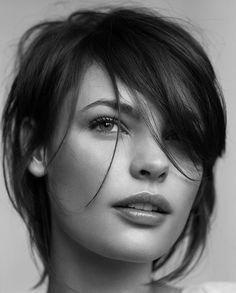 Inspiration: Short hair shag for fine hair natural makeup, short haircuts, hair colors, new hair, fine hair, short cuts, beauti, hairstyl, bang