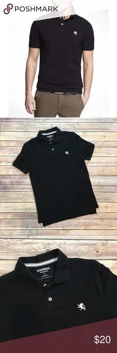 Men's Express Black Polo Men's Express Black polo shirt. Size small. Modern fit. EUC. Please carefully review each photo before purchase as they are the best descriptors of the item. Express Shirts Polos